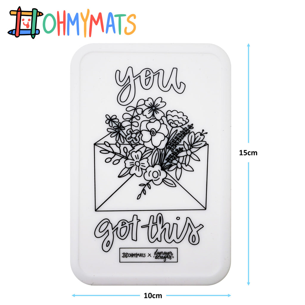 #ohmyminimats - Faith: You Got This - Reusable Mini Colouring Mats