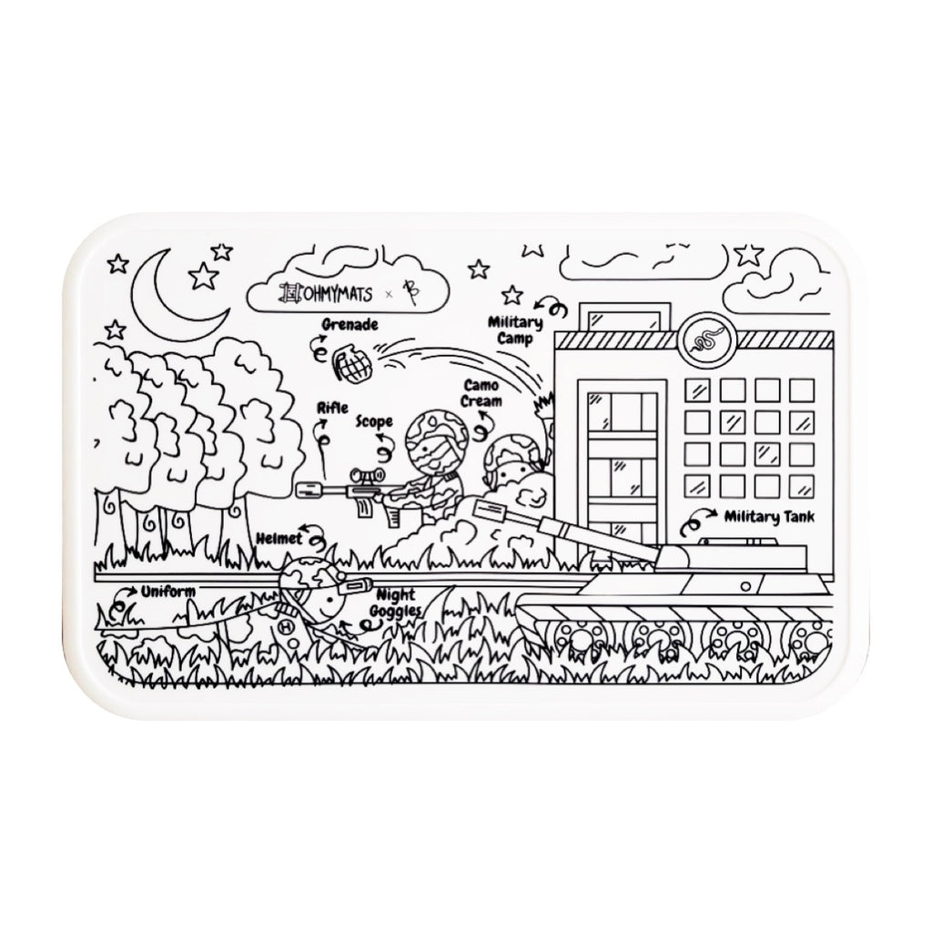 Occupations Bundle #ohmymats Reuseable Colouring & Dining Place Mat (KOREA)