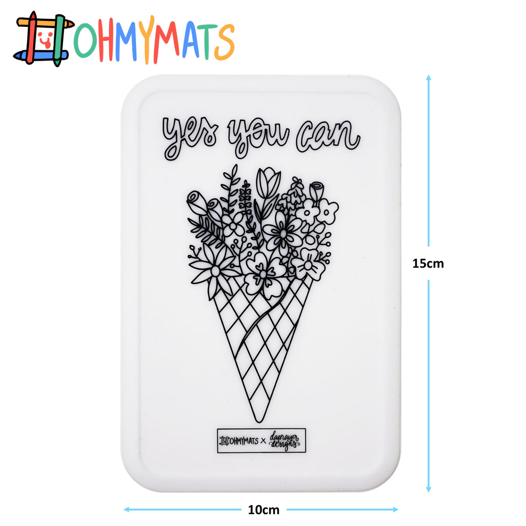 #ohmyminimats - Faith: Yes You can - Reusable Mini Colouring Mats