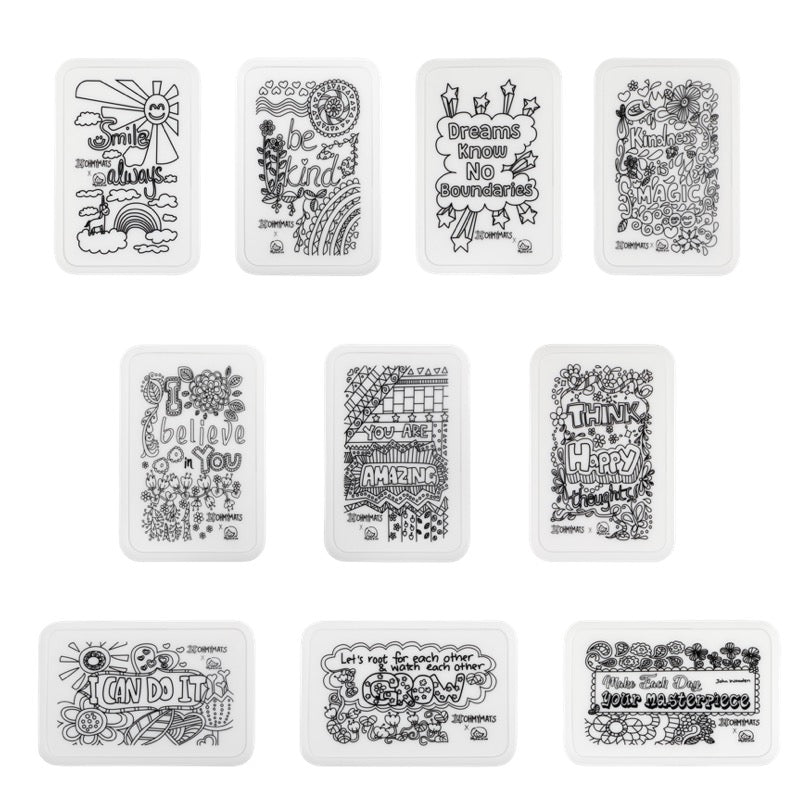 #ohmyminimats - Inspirational Party Packs for Mini Reuseable Colouring & Dining Place Mat (KOREA)