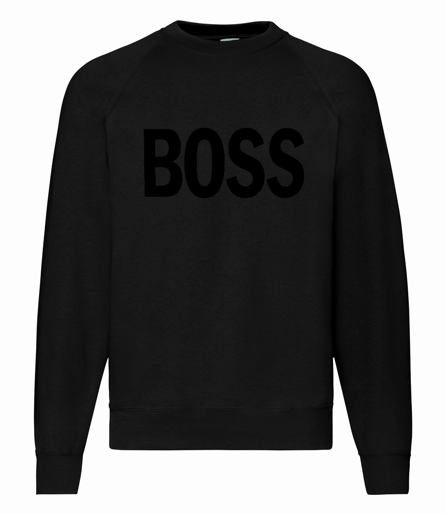 BOSS - Text - Sweatshirt - Black / Black [SAMPLE]