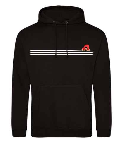 UTR White Stripes Hooded Jumper