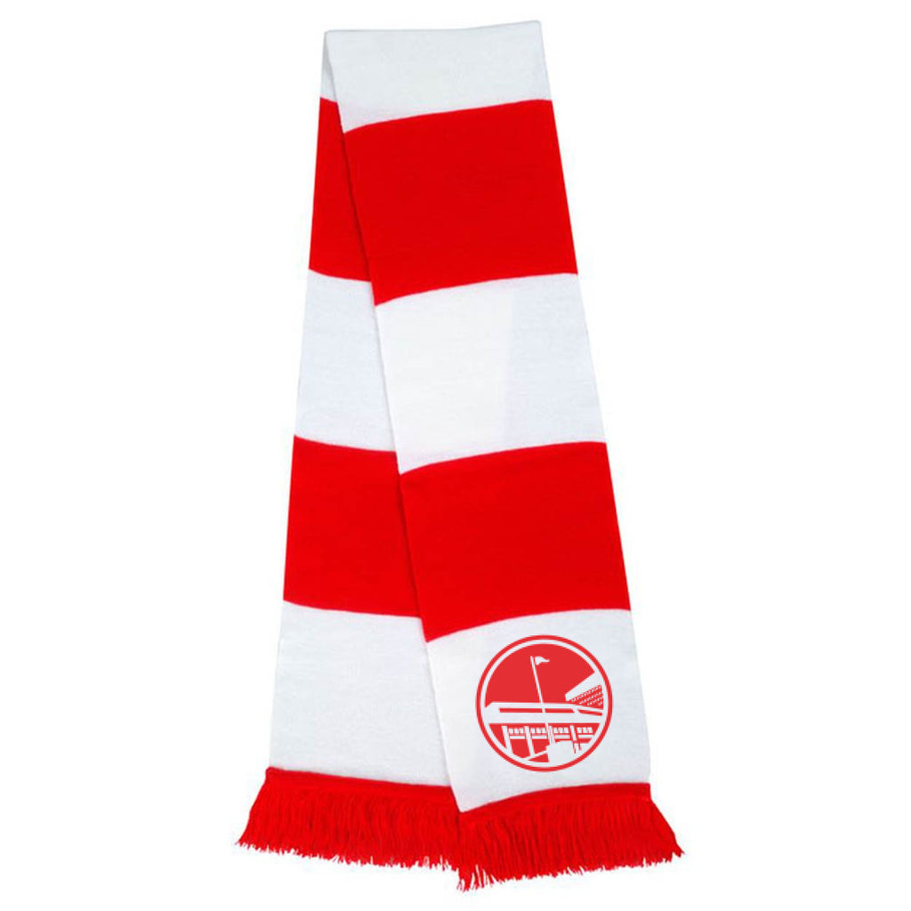 UTR Red & White Bar Scarf