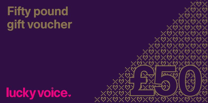 £50 Lucky Voice Bar Gift Vouchers