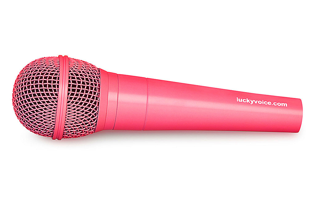 Neon Pink microphone