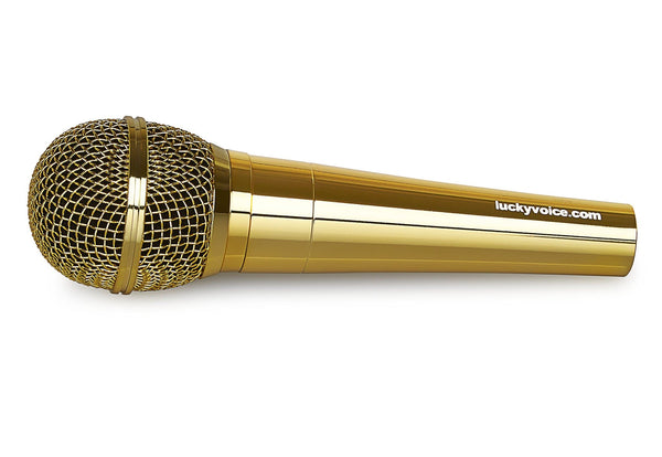 Chrome Gold microphone