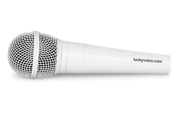 White microphone