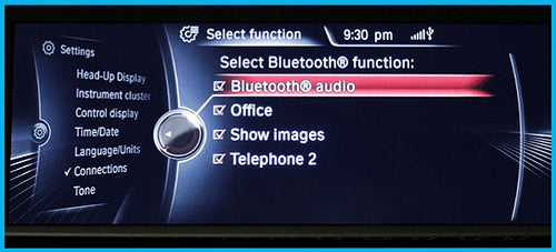 BMW and MINI Enhanced Bluetooth  Activation