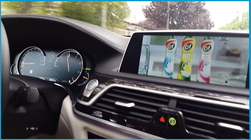 Watching Video In Motion on screen in BMW car