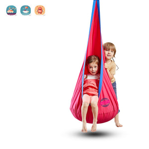 Kids Pod Swing Seat 100% Cotton Child Hammock Chair for Indoor and Outdoor use