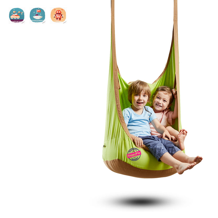 HappyPie Frog  Pod Swing Seat Indoor and Outdoor Hammock for Children