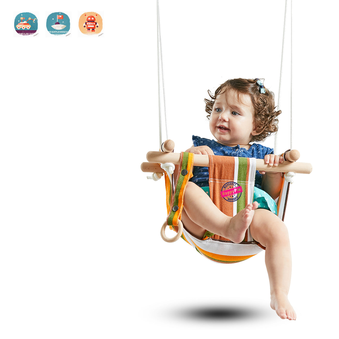 Infant to Toddler Secure Hammock Toy for Toddler Indoor and Outdoor Canvas Hanging Swing Seat