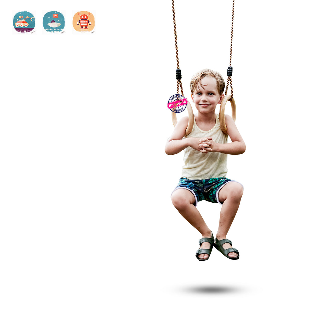Children Trapeze Swing Bar with Rings