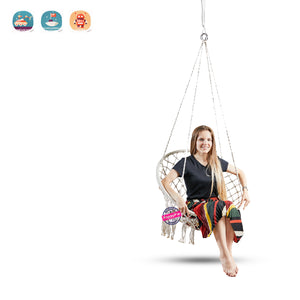 Hammock Chair Macrame Swing, Perfect for Indoor/Outdoor Home, Patio