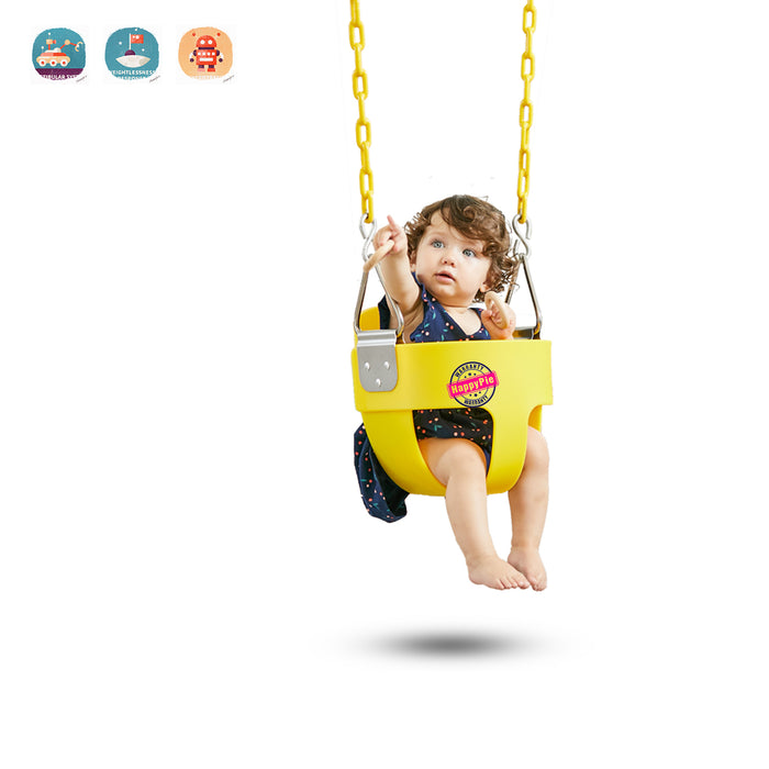 HappyPie Infant to Toddler Secure Hanging High Back Full Bucket Baby Swing Seat
