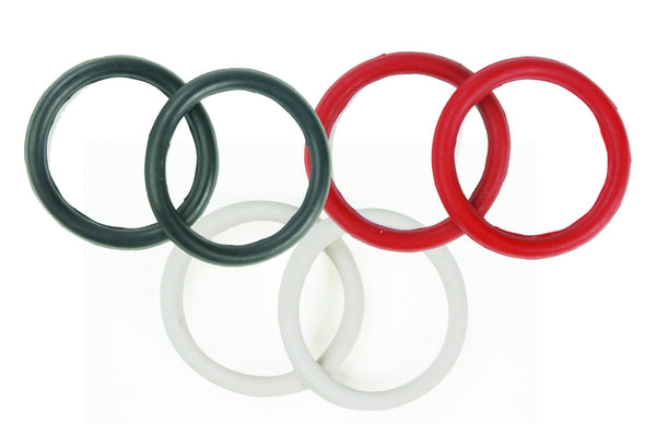 Equiessentials Rubber Peacock Bands
