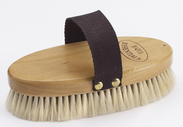 Equiessentials Wood Back Body Brush with Goat Hair