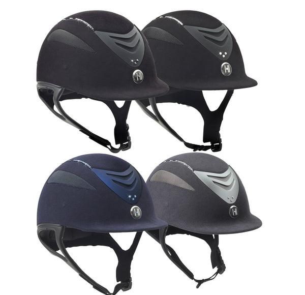 One K Defender Suede Helmet with Swarovski Stones