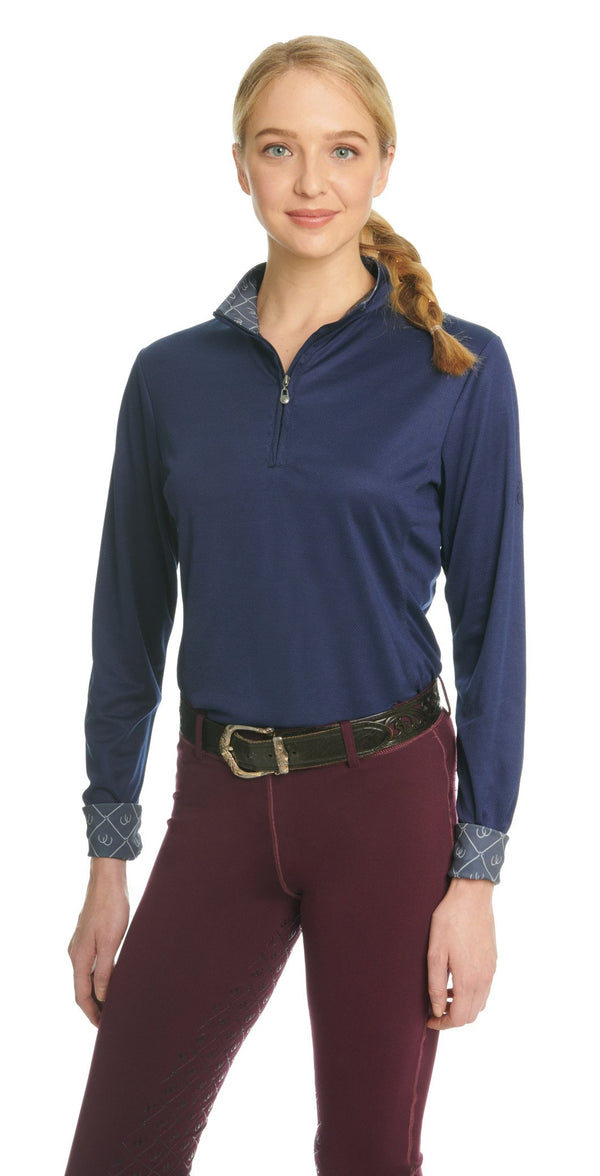 Ovation Ladies Cool Rider Tech Long Sleeve Shirt