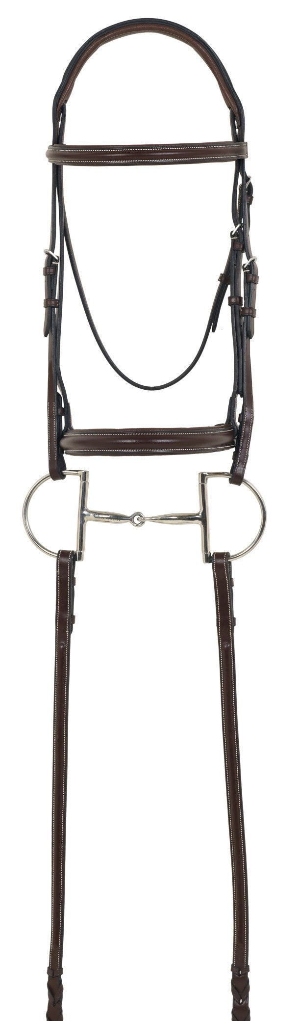 Camelot Gold RCS Plain Raised Padded Bridle with Reins