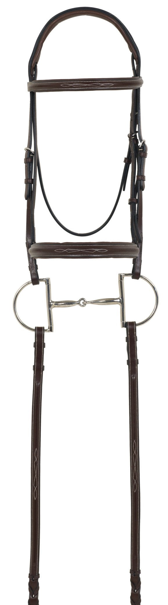 Camelot Gold RCS Fancy Raised Padded Bridle with Reins