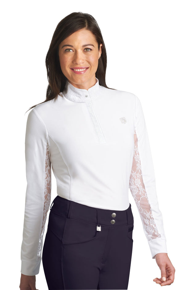 Romfh Ladies Hunter Lace Long Sleeve Snap Shirt