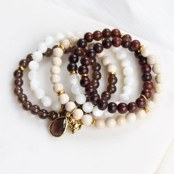Earth Below Me Wrist Mala