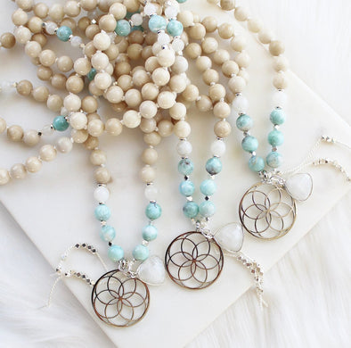 Wildly Open Mala Necklace