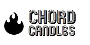 Chord Candles Logo with playlists inspired by the candle scent