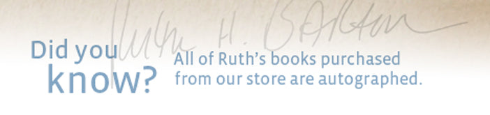 Did you know? All of Ruth's books purchased from the Transforming Resources Online Store are autographed.