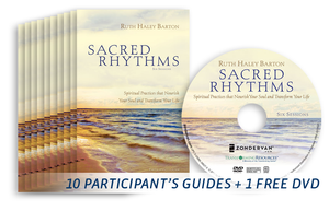 10 copies of the Sacred Rhythms Curriculum: Participant's Guide + 1 free DVD