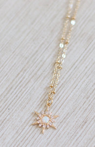 The Opal Sun Necklace