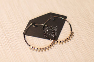 The Circle Earrings // Black
