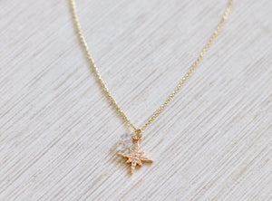 The NoRth StaR Necklace // HeRkimer Diamond