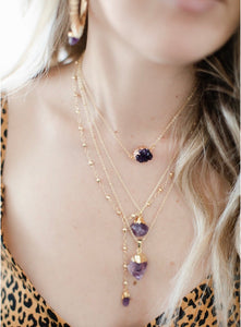 The Lily Lariat // Amethyst