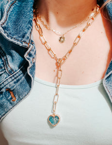 The Aqua Heart Lariat