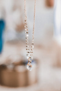 The Coin Necklace // Herkimer Diamond