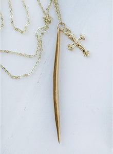 The Cross + Dagger Necklace