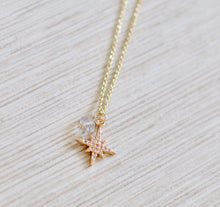 Load image into Gallery viewer, The NoRth StaR Necklace // HeRkimer Diamond