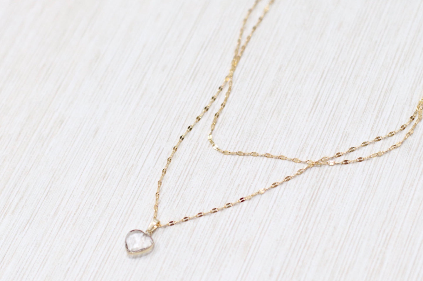 The Love Notes Necklace // Clear Quartz