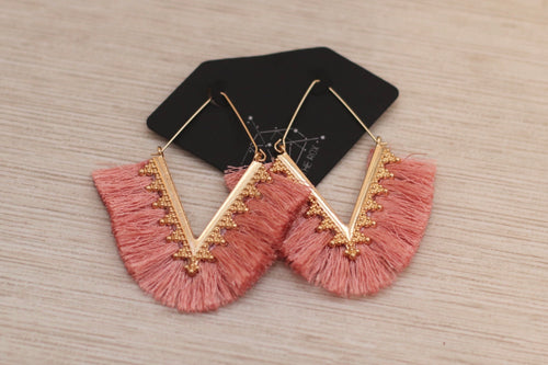 The Fan Earrings // Pink
