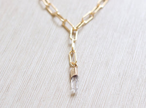 The Sabrina Necklace // Clear