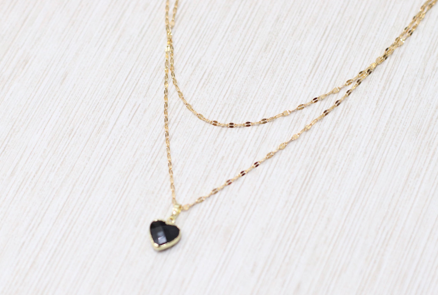 The Love Notes Necklace // Black Onyx