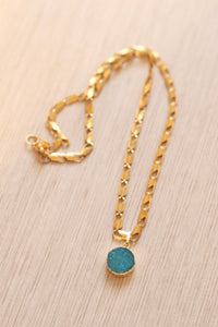 The Karly Necklace // Aqua