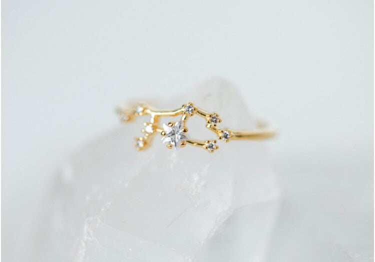 The Lucky Stars Zodiac Ring