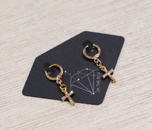 Load image into Gallery viewer, The George Michael Cross Earrings