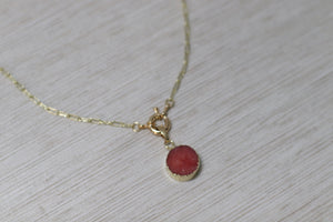 The Karly Necklace // Red Druzy