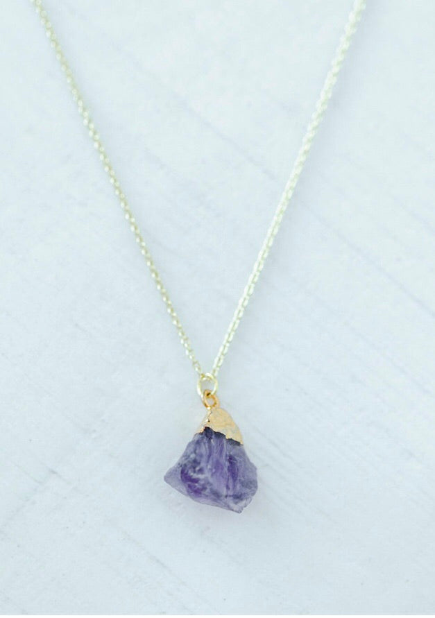 The February Necklace // Amethyst