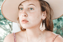 Load image into Gallery viewer, Tribal Moon Earrings // Brass