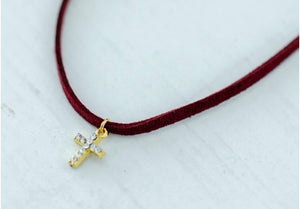The Alexa Choker // Burgundy